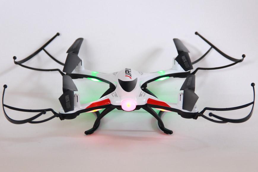 JJRC H31 Quadrocopter - mit montierten Prop Guards und Beleuchtung